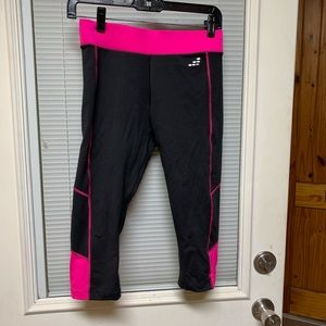 BCG Compression Black Pink Cropped Leggings S